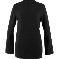 Swetry klasyczne damskie: Sweter z szerokimi rękawami bonprix antracytowy melanż