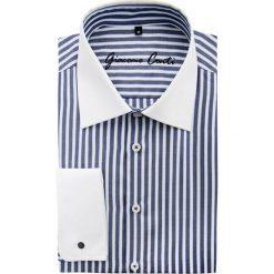 Koszula VITTORE slim 15-01-38. Białe koszule męskie na spinki Giacomo Conti, m, w paski, z bawełny, z włoskim kołnierzykiem, z długim rękawem. Za 229,00 zł.