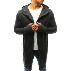 Bluzy męskie: Bluza męska rozpinana z kapturem antracytowa (bx3244)
