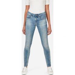 G-Star Raw - Jeansy 3301. Niebieskie jeansy damskie marki G-Star RAW, z bawełny. W wyprzedaży za 379,90 zł.