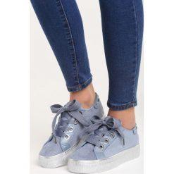 Niebieskie Buty Sportowe City of Angels. Pomarańczowe buty sportowe damskie marki Born2be, z materiału. Za 79,99 zł.
