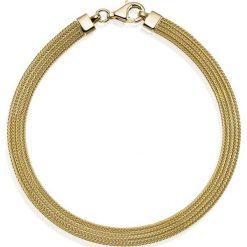 Wyjątkowa Bransoletka Złota - złoto żółte 585. Żółte bransoletki damskie sznurkowe marki W.KRUK, złote. Za 2590,00 zł.