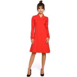 Sukienki: Czerwona Sukienka z Długim Rękawem