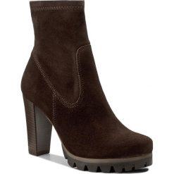 Botki LASOCKI - MOKKA-08 Brązowy. Brązowe buty zimowe damskie Lasocki, z materiału, na obcasie. W wyprzedaży za 125,00 zł.
