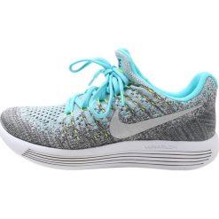 Nike Performance LUNAREPIC FLYKNIT 2 Obuwie do biegania treningowe wolf grey/metallic silver/polarized blue/volt/glacier ice/grey. Niebieskie buty do biegania damskie marki Nike Performance, z materiału. W wyprzedaży za 356,85 zł.