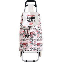 Torba w kolorze kremowym na kółkach - 35,5 x 95 x 33 cm. Białe torebki klasyczne damskie Easy Make, z tworzywa sztucznego. W wyprzedaży za 77,95 zł.
