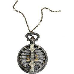 Zegarki damskie: Alcatraz Skeleton Zegarek kieszonkowy brąz