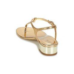 Sandały MICHAEL Michael Kors  CAYLA MID. Czarne sandały damskie marki MICHAEL Michael Kors, z gumy, przed kolano, na wysokim obcasie. Za 639,00 zł.