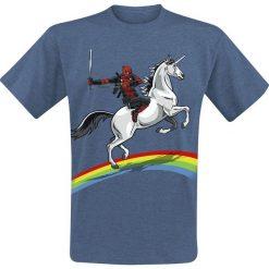 Deadpool Dead Glory T-Shirt odcienie niebieskiego. Niebieskie t-shirty męskie z nadrukiem Deadpool, s, z okrągłym kołnierzem. Za 74,90 zł.