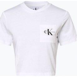 Calvin Klein Jeans - T-shirt damski, czarny. Czarne t-shirty damskie Calvin Klein Jeans, l, z dżerseju. Za 129,95 zł.