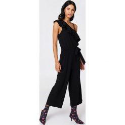 Kombinezony damskie: Rut&Circle Kombinezon na jedno ramię Ofelia - Black