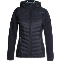Bomberki damskie: CMP WOMAN JACKET FIX HOOD HYBRID Kurtka z polaru antracite