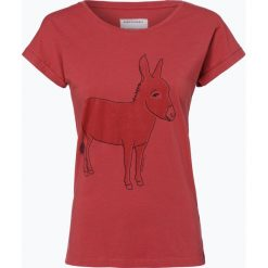 T-shirty damskie: ARMEDANGELS – T-shirt damski – Liv Donkey, czerwony