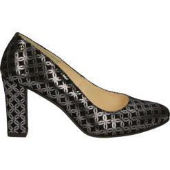 Czółenka - 465-367 NE-AR. Czarne buty ślubne damskie Venezia, ze skóry. Za 199,00 zł.