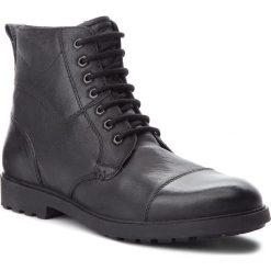Kozaki GEOX - U Rhadalf E U845HE 000EM C9999 Black. Czarne glany męskie marki Geox, z materiału. W wyprzedaży za 309,00 zł.