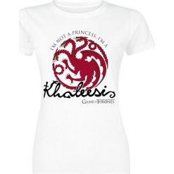 Bluzki asymetryczne: Gra o Tron Khaleesi Koszulka damska biały