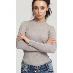 Khaki Sweter Burnished. Brązowe swetry klasyczne damskie other, xl. Za 39,99 zł.