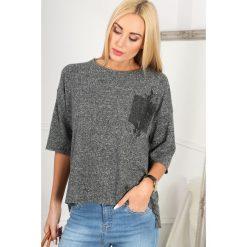 Ciemnoszary Sweter z Aplikacją BB20783. Czerwone swetry klasyczne damskie marki Fasardi, l. Za 49,00 zł.