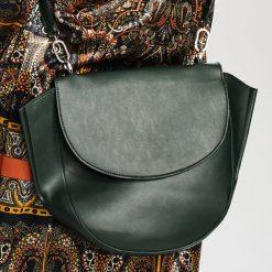 Duża torebka typu saddle bag - Khaki. Brązowe torebki klasyczne damskie Reserved, duże. Za 129,99 zł.