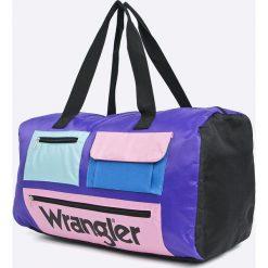 Wrangler - Torba. Szare torebki klasyczne damskie marki Wrangler, z materiału. Za 189,90 zł.