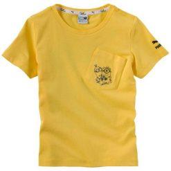 Puma Koszulka Chłopięca Minionki 110 Żółta. Żółte t-shirty chłopięce Puma, z motywem z bajki. Za 89,00 zł.