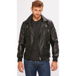 Guess Jeans - Kurtka. Czarne kurtki męskie bomber Guess Jeans, l, z aplikacjami, z elastanu. Za 769,90 zł.