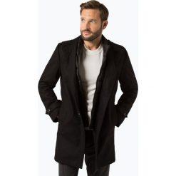 Finshley & Harding - Płaszcz męski, czarny. Czarne prochowce męskie marki Finshley & Harding, w kratkę. Za 499,95 zł.