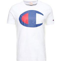 T-shirty męskie z nadrukiem: Champion Reverse Weave CLASSIC APPLIQUÉ TEE Tshirt z nadrukiem white