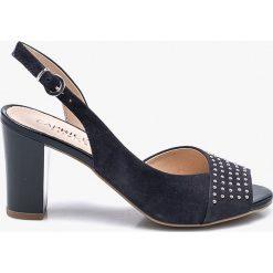 Caprice - Sandały. Szare sandały damskie Caprice, z gumy, na obcasie. W wyprzedaży za 199,90 zł.