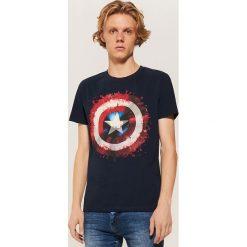 T-shirty męskie: T-shirt KAPITAN AMERYKA - Granatowy