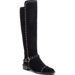 Kozaki ALMA EN PENA - I18316 Crosta Black. Czarne buty zimowe damskie Alma en Pena, z materiału, przed kolano, na wysokim obcasie, na obcasie. Za 639,00 zł.