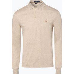 Polo Ralph Lauren - Męska koszulka polo – Slim fit, beżowy. Brązowe koszulki polo marki Polo Ralph Lauren, m, z bawełny, z długim rękawem. Za 399,95 zł.