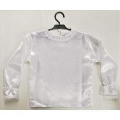 Koszula z Atłasu 104 - kostiumy dla dzieci. Białe koszule chłopięce marki FOUGANZA, z bawełny. Za 45,22 zł.
