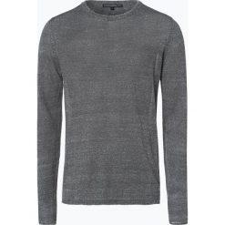 Swetry klasyczne męskie: Drykorn – Sweter męski z dodatkiem lnu – Heath, zielony