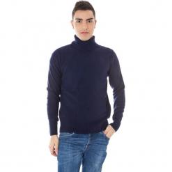 Sweter w kolorze granatowym. Niebieskie golfy męskie marki GALVANNI, l, z okrągłym kołnierzem. W wyprzedaży za 299,95 zł.