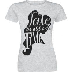 Piękna i Bestia Tale As Old As Time Koszulka damska odcienie szarego. Szare bluzki asymetryczne Piękna i Bestia, m, z nadrukiem, z okrągłym kołnierzem. Za 74,90 zł.