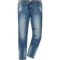 """Dżinsy ze stretchem chino Regular Fit Tapered bonprix niebieski """"used"""". Niebieskie jeansy męskie regular marki House. Za 99,99 zł."""