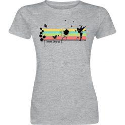 Piotruś Pan Tinker Bell - Rainbow Koszulka damska odcienie szarego. Szare bluzki asymetryczne Piotruś Pan, xxl, z nadrukiem, z okrągłym kołnierzem. Za 42,90 zł.