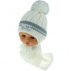 Czapka niemowlęca z szalikiem CZ+S 150C. Szare czapeczki niemowlęce Proman. Za 39,76 zł.