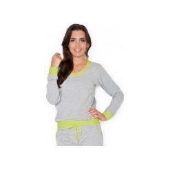 Bluza K276imonka. Zielone bluzy rozpinane damskie KATRUS, m, z dresówki, długie. Za 99,00 zł.