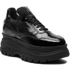 Sneakersy EVA MINGE - Cadalso 4C 18PM1372671EF 301. Czarne sneakersy damskie marki Eva Minge, z lakierowanej skóry. W wyprzedaży za 299,00 zł.