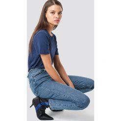 NA-KD Basic T-shirt basic - Blue,Navy. Różowe t-shirty damskie marki NA-KD Basic, z bawełny. Za 52,95 zł.