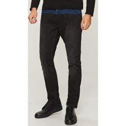 Rurki męskie: Jeansy slim z łączonych materiałów - Czarny