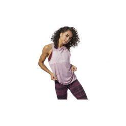 Topy na ramiączkach / T-shirty bez rękawów Reebok Sport  Top ACTIVCHILL Graphic. Fioletowe topy sportowe damskie Reebok Sport, l, bez rękawów. Za 149,00 zł.