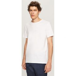 T-shirty męskie: T-shirt z wyrazistą strukturą – Biały