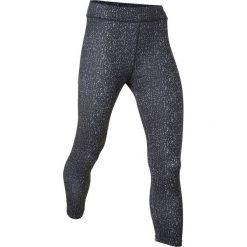 Legginsy sportowe wzorzyste, dł. 3/4 bonprix czarny z nadrukiem. Czarne legginsy we wzory bonprix. Za 49,99 zł.