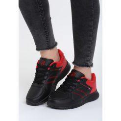 Czarno-Czerwone Buty Sportowe Look Lovely. Czerwone buty sportowe damskie marki KALENJI, z gumy. Za 89,99 zł.