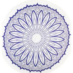 Kąpielówki męskie: Chusta hammam w kolorze niebiesko-białym – Ø 150 cm