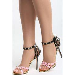 Różowe Sandały Thoughtful. Czerwone sandały damskie Born2be, z materiału, na wysokim obcasie, na obcasie. Za 79,99 zł.