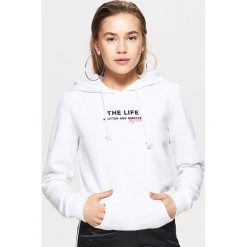 Bluzy damskie: Bluza typu hoodie – Biały